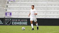Orlando, Florida - Saturday January 13, 2018: Ben White. Match Day 1 of the 2018 adidas MLS Player Combine was held Orlando City Stadium.