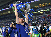 Porto, Portugal, 29th May 2021. Jorginho of Chelsea celebrates with the trophy during the UEFA Champions League match at the Estadio do Dragao, Porto. Picture credit should read: David Klein / Sportimage PUBLICATIONxNOTxINxUK SPI-1071-0310 <br /> Oporto 29/05/2021 <br /> Champions League Final <br /> Manchester City Vs Chelsea <br /> Photo Imago/Insidefoto <br /> ITALY ONLY