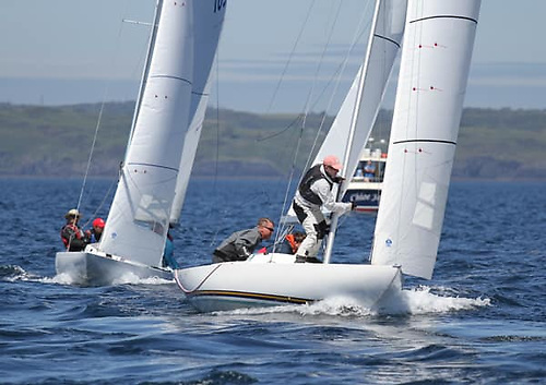 Racing at the Glandore Harbour Yacht Club Dragon Championships