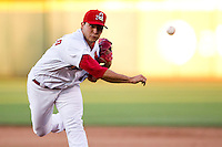 Richard Castillo (12) of the Springfield Cardinals delivers a pitch during a game against the Northwest Arkansas Naturals at Hammons Field on June 14, 2012 in Springfield, Missouri. (David Welker/Four Seam Images).