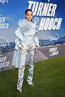 """LOS ANGELES, CA - JULY 15: Lyndsy Fonseca attends a premiere event for the Disney+ original series """"Turner & Hooch"""" at Westfield Century City on July 15, 2021 in Los Angeles, California. (Photo by Frank Micelotta/Disney+/PictureGroup)"""