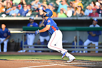 Tennessee Smokies second baseman Vimael Machin (13) swings at a pitch during a game against the Mobile BayBears at Smokies Stadium on June 2, 2018 in Kodak, Tennessee. The BayBears defeated the Smokies 1-0. (Tony Farlow/Four Seam Images)
