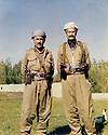 Iran 1979 .Left, Akram Agha with Mohammed Anwar Herki .Iran 1979  .A gauche, Akram Herki avec a cote de lui Mohammed Anwar Herki