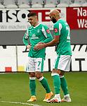 17.10.2020, Schwarzwald Stadion, Freiburg, GER, 1.FBL, RB Leibzig vs SV Werder Bremen<br /><br />im Bild / picture shows<br />Milot Rashica (Bremen), Ömer Toprak (Bremen)<br /><br />Foto © nordphoto / Bratic<br /><br />DFL REGULATIONS PROHIBIT ANY USE OF PHOTOGRAPHS AS IMAGE SEQUENCES AND/OR QUASI-VIDEO.