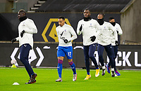 8th January 2021; Molineux Stadium, Wolverhampton, West Midlands, England; English FA Cup Football, Wolverhampton Wanderers versus Crystal Palace; Nathaniel Clyne of Crystal Palace warming up with the team