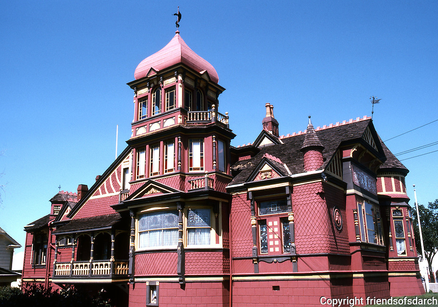 San Diego: Villa Montezuma (Jesse Shepherd House), 20th & K St. Architects Comstock & Trotsche, 1887. (Photo Mar. '82)