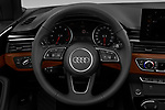 Car pictures of steering wheel view of a 2020 Audi A5-Cabriolet Premium 2 Door Convertible Steering Wheel