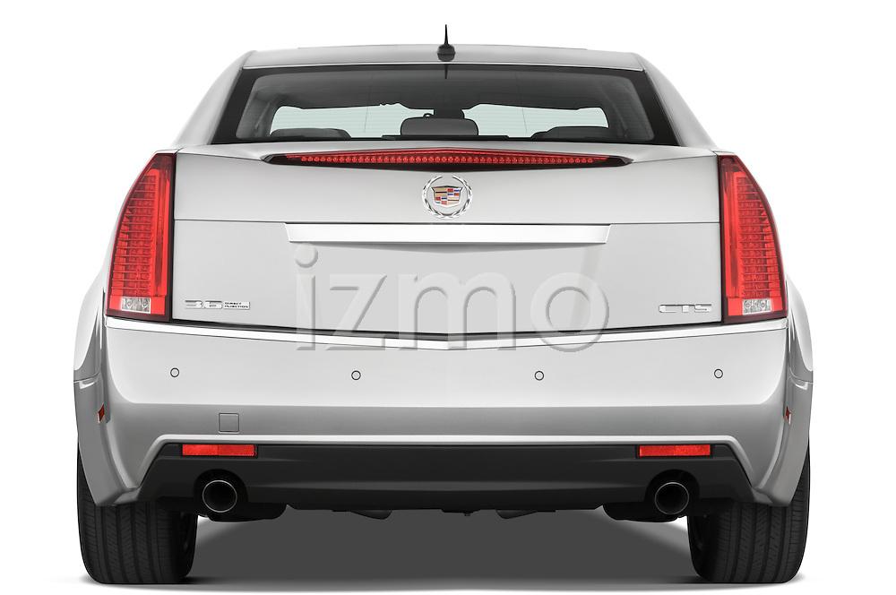Straight rear view of a 2008 Cadillac CTS sedan