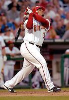 16 June 2006: Daryle Ward, first baseman for the Washington Nationals, at bat against the New York Yankees at RFK Stadium, in Washington, DC. The Yankees defeated the Nationals 7-5 in the first meeting of the two franchises...Mandatory Photo Credit: Ed Wolfstein Photo...