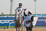 DUBAI,UNITED ARAB EMIRATES-MARCH 31: (10) Tallaab Al Khalediah,ridden by Roberto Perez,wins the Dubai World Cup at Meydan Racecourse on March 31,2018 in Dubai,United Arab Emirates (Photo by Michael McInally/Eclipse Sportswire/Getty Images)