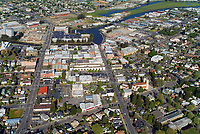 historical aerial photograph of the City of Petaluma, Sonoma County, California with the Petaluma River in the background, 2004