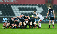 Saturday 15th February 2020 | Ospreys vs Ulster Rugby<br /> <br /> David Shanahan in action during the PRO14 Round 11 clash between the Ospreys and Ulster Rugby at the Liberty Stadium, Swansea, Wales. Photo by John Dickson/DICKSONDIGITAL