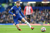 Timo Werner of Chelsea in action during Chelsea vs Southampton, Premier League Football at Stamford Bridge on 2nd October 2021