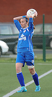 20160116 - ZULTE , BELGIUM : Gent's Maelis Henneuse  pictured during a soccer match between the women teams of ZULTE-WAREGEM and AA GENT B  , during the fifteenth matchday in the First League - Eerste Nationale season, Saturday 16 January 2016 . PHOTO DIRK VUYLSTEKE