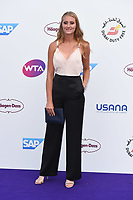 Kristina Mladenovic<br /> arriving for the Tennis on the Thames WTA event in Bernie Spain Gardens, South Bank, London<br /> <br /> ©Ash Knotek  D3412  28/06/2018