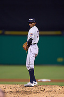 Lakeland Flying Tigers pitcher Isrrael De La Cruz (36) during a game against the Clearwater Threshers on May 5, 2021 at BayCare Ballpark in Clearwater, Florida.  (Mike Janes/Four Seam Images)