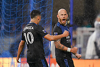 SAN JOSE, CA - MARCH 7: Magnus Eriksson #7 of the San Jose Earthquakes celebrates scoring on a PK during a game between Minnesota United FC and San Jose Earthquakes at Earthquakes Stadium on March 7, 2020 in San Jose, California.