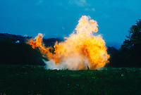 EXPLOSION OF ISOPROPYL ETHER AND ALCOHOL<br /> Disposal Of A Peroxidizable Compound<br /> A volatile, highly explosive  liquid, (CH3)2CHOCH(CH3)2, stabilized by alcohol.  Used as a reagent, a solvent.