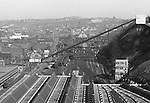 Pittsburgh PA:  View of the 17th Street/Penn Incline in the Strip District from the roof of the Pennsylvania Railroad Station.