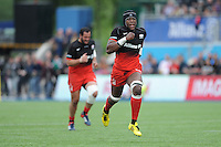 Maro Itoje of Saracens chases up his kick ahead during the Aviva Premiership semi final match between Saracens and Leicester Tigers at Allianz Park on Saturday 21st May 2016 (Photo: Rob Munro/Stewart Communications)