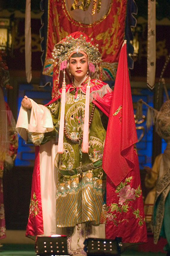 Female star sings at the Chinese Opera - Chengdu, China in Sichuan Province