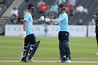 Josh Rymell and Tom Westley enjoy a useful partnership for Essex during Gloucestershire vs Essex Eagles, Royal London One-Day Cup Cricket at the Bristol County Ground on 3rd August 2021