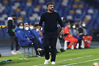 Gennaro Gattuso coach of SSC Napoli  during the Europa League Group Stage F football match between SSC Napoli and Rijeka HNK at stadio San Paolo in Napoli (Italy), November 26th, 2020.<br /> Photo Cesare Purini / Insidefoto