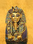 Composite illustration of coffinette for the viscera of Tutankhamun; Tutankhamun; Exhibit; Catalog; New Kingdom; Egypt; Golden Age of the Pharaohs, Cover