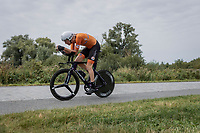 Daan Hoole (NED/SEG Racing Academy)<br /> <br /> 88th UCI Road World Championships 2021 – ITT (WC)<br /> Men's U23 Time trial from Knokke-Heist to Brugge (30.3km)<br /> <br /> ©Kramon