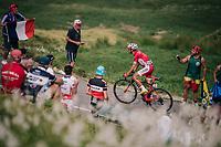 Daniel Navarro (ESP/Cofidis) up the last climb of the 2018 Tour: the Col d'Aubisque (HC/1709m/16.6km@4.9%)<br /> <br /> Stage 19: Lourdes > Laruns (200km)<br /> <br /> 105th Tour de France 2018<br /> ©kramon