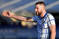 Milan Skriniar of FC Internazionale reacts during the Italy Cup round of 16 football match between ACF Fiorentina and FC Internazionale at Artemio Franchi stadium in Firenze (Italy), January 13th, 2021. Photo Andrea Staccioli / Insidefoto