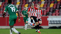 Emiliano Marcondes of Brentford in action during Brentford vs Sheffield Wednesday, Sky Bet EFL Championship Football at the Brentford Community Stadium on 24th February 2021