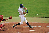 7 July 2008: Vermont Lake Monsters' outfielder Stephen Englund in action against the Batavia Muckdogs at Centennial Field in Burlington, Vermont. The Lake Monsters defeated the Muckdogs 3-2 in the final game of their 3-game series...Mandatory Photo Credit: Ed Wolfstein Photo