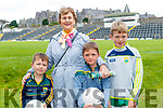 Mark, Rory and Darragh Moynihan with Eileen Tucker, pictured at the Kerry GAA Open Day Meet and Greet, at Fitzgerald Stadium, Killarney on Saturday last.