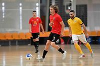 Charlie  Bayly of Canterbury during the Men's Futsal SuperLeague, Canterbury United Futsal Dragons v Capital Futsal at ASB Sports Centre, Wellington on Saturday 31 October 2020.<br /> Copyright photo: Masanori Udagawa /  www.photosp ort.nz