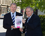 Chief exec Stewart Regan and President Alan McRae after the SFA's AGM at Glasgow City Chambers