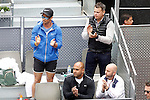Andy Murray's technical team during Madrid Open Tennis 2016 Semifinal match.May, 7, 2016.(ALTERPHOTOS/Acero)