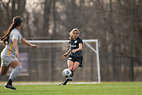 LOUISVILLE, KY - MARCH 13: Nealy Martin #36 of Racing Louisville FC kicks the ball during a game between West Virginia University and Racing Louisville FC at Thurman Hutchins Park on March 13, 2021 in Louisville, Kentucky.