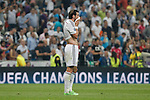 Real Madrid´s Gareth Bale regrets the defeat after the Champions League semi final soccer match between Real Madrid and Juventus at Santiago Bernabeu stadium in Madrid, Spain. May 13, 2015. (ALTERPHOTOS/Victor Blanco)
