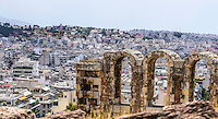 Fine Art Landscape, Photograph of the an arch near the Acropolis in Athens Greece.