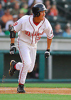 29 May 2007: Chih-Hsien Chiang of the Greenville Drive, Class A South Atlantic League affiliate of the Boston Red Sox, in a game against the Hickory Crawdads at West End Field in Greenville, S.C. Photo by:  Tom Priddy/Four Seam Images
