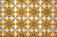 """Ceramics, Nabeul, Tunisia.  Tiles used in Modern Residential and Commercial Construction.  Kedidi Ceramic Showroom.  """"Lion's Paw"""" Design."""