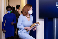 White House Press Secretary Jen Psaki arrives to hold a news briefing in the James Brady Press Briefing Room of the White House, in Washington, DC, USA, 10 February 2021.<br /> CAP/MPI/RS<br /> ©RS/MPI/Capital Pictures
