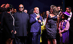 Gladys Knight, Stevie Wonder, Berry Gordy, Diana Ross, Mary Wilson, Valisia LeKae, Brandon Victor Dixon, Raymond Luke Jr. Charles Randolph-Wright & Company  during the Broadway Opening Night Performance Curtain Call for 'Motown The Musical'  at the Lunt Fontanne Theatre in New York City on 4/14/2013..