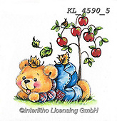 CUTE ANIMALS, LUSTIGE TIERE, ANIMALITOS DIVERTIDOS, paintings+++++,KL4590/5,#ac#, EVERYDAY ,sticker,stickers ,bear,bears ,autumn