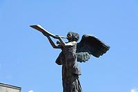 Engel von Uzupio in Vilnius, Litauen, Europa, Unesco-Weltkulturerbe