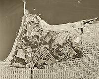 historical aerial photograph San Francisco, California, 1968