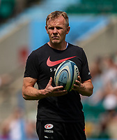 Saracens' Head Coach Mark McCall<br /> <br /> Photographer Bob Bradford/CameraSport<br /> <br /> Gallagher Premiership Final - Exeter Chiefs v Saracens - Saturday 1st June  2018 - Twickenham Stadium - London<br /> <br /> World Copyright © 2019 CameraSport. All rights reserved. 43 Linden Ave. Countesthorpe. Leicester. England. LE8 5PG - Tel: +44 (0) 116 277 4147 - admin@camerasport.com - www.camerasport.com