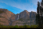Yosemite Falls in Spring from Cook's Meadow at Dawn, Yosemite National Park