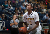 Afure Jemerigbe of California prepares to shoot a free throw during the game against Oregon State at Haas Pavilion in Berkeley, California on January 3rd, 2014.  California defeated Oregon State, 72-63.